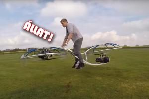 Repülő bringát készített az őrült tudós