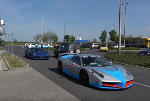 Ferrarik száguldottak Szombathelyen, volt akit el is vittek