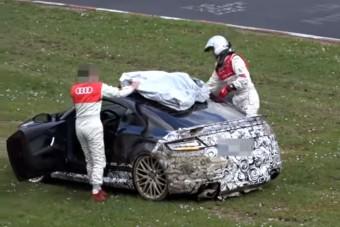 Titkos Audi prototípust törtek a Nürburgringen