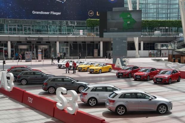 A müncheni repteret elfoglalta az Audi az új A3-asokkal