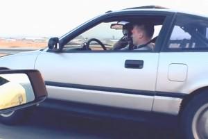 Lamborghinit aláz a felpiszkált szakadt Honda CR-X