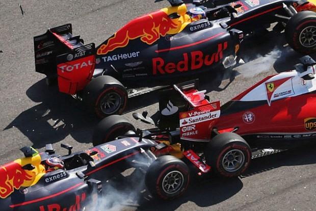 F1: Vettel mérges, Kvjat pofátlanul reagált