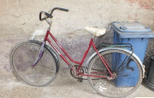 Ezt a bringát hagyta ott