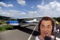 Így kommentálja Palik az M1-M7-re landoló repülőt