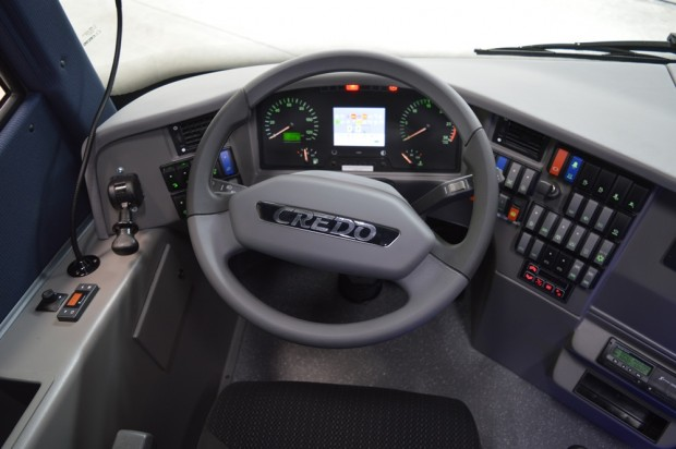 A motoron kívül szinte minden magyar termék a Credo autóbuszokban.