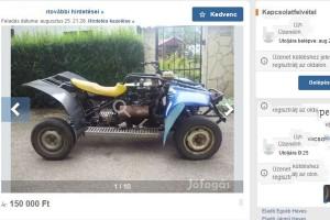 Zsiguli-motoros quad eladó, ezt látni kell