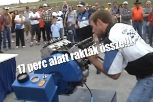 17 perc alatt raktak össze egy komplett V8-as motort