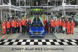 Új Audi gyártása kezdődött el Győrben