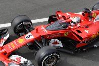 F1: Vettel elszédült a fejvédőtől