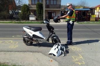 Rendőrök ütköztek motorossal Budapesten