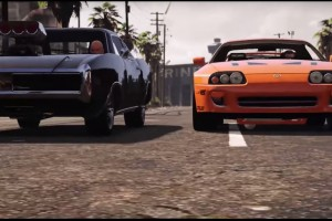 Így néz ki a Halálos iramban ikonikus jelenete a GTA 5-ben