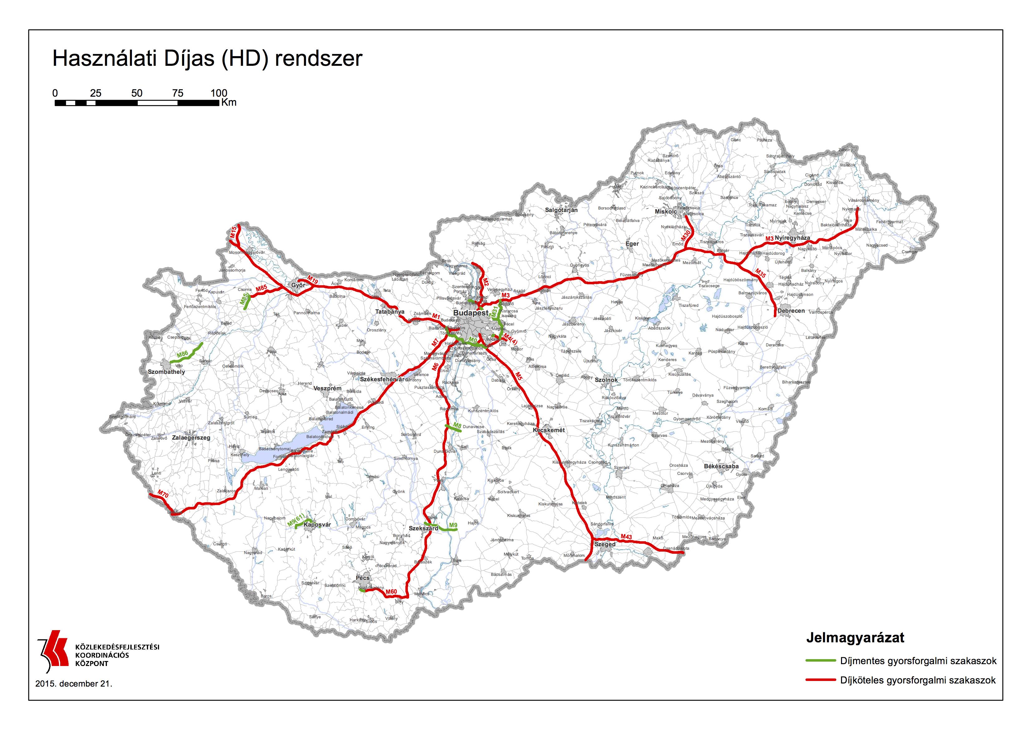 útdíj térkép magyarország Íme a térképek, hogy hol kell útdíjat fizetni 2016 ban | Vezess útdíj térkép magyarország